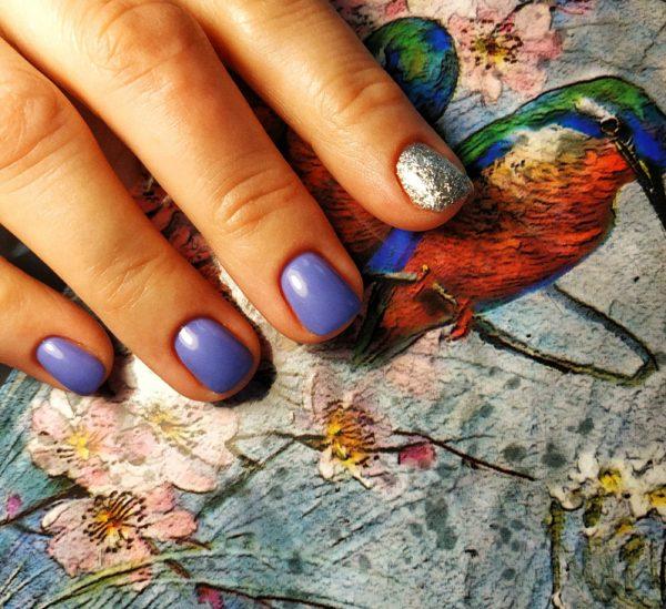 Дизайн ногтей с блёстками